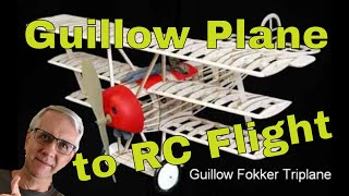 How To Convert A Guillow Model Plane To Radio Control Flight