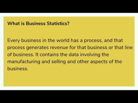 Business Statistics And Its Type Explained By Statistic Homework Help Experts