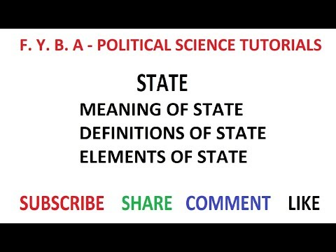 The State - Meaning, Definition & Elements