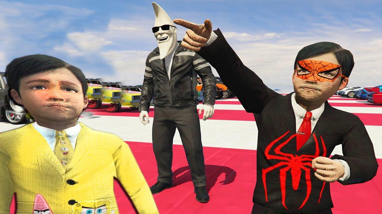 Afacan Çocuk Örümcek Çocuk Olmak İçin Ay Adamın Yanına Gider (GTA 5 Hikaye Modu)