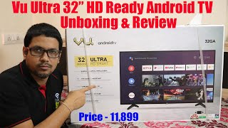 "Hindi || Vu Ultra 32"" HD Ready Android TV in 2020 Unboxing & Review"