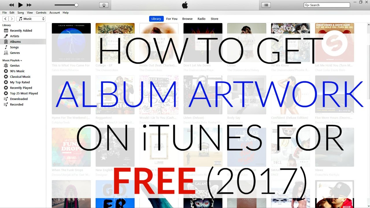 how to keep album artwork on itunes