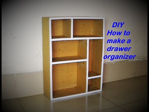 DIY How to make a drawer organizer : Made with cardboard and paper HD.