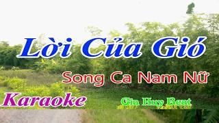 Lời của gió - karaoke - song ca nam nữ - gia huy beat - karaoke - lời của gió -song ca nam nữ