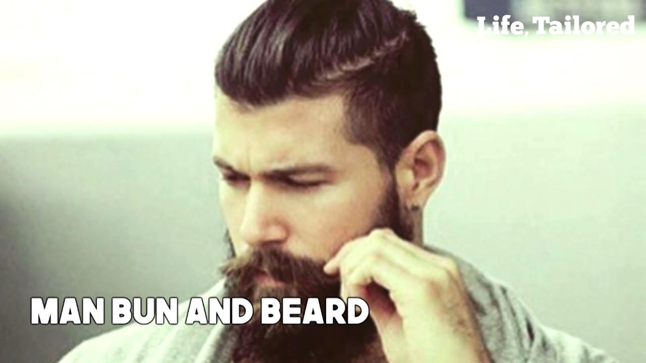 Most Popular Man Bun Hairstyles How To Grow A Man Bun Youtube