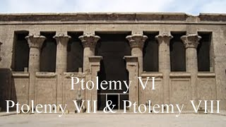 Ptolemy VI, Ptolemy VII and Ptolemy VIII - Pharaohs of Egypt, North Africa.