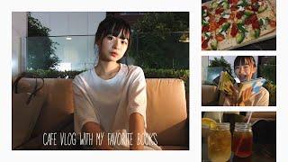 【CafeVlog】夜ご飯・莉子が最近読んでる本