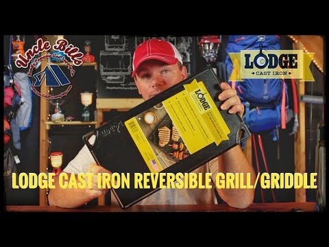 Lodge cast iron griddle/grill review with steak and eggs