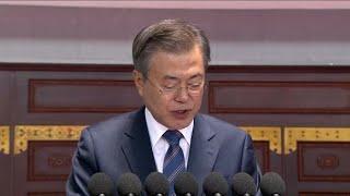 Kim Jong-un and Moon Jae-in speak after trekking Mount Paektu