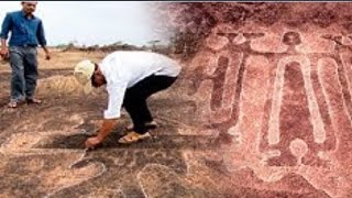 Petroglyphen Einer Alten Unbekannten Zivilisation In Indien Entdeckt