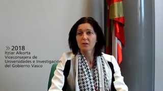 Itziar Alkorta, Viceconsejera de Universidades e Investigación del Gobierno Vasco. Deusto 2018
