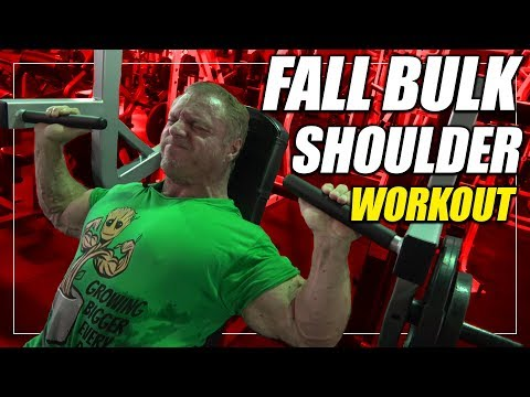 Fall Bulk Shoulder Workout | For Mass