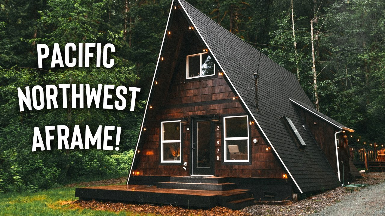 Pacific Northwest A-frame Cabin w/ Woodfire Hottub! | Full Airbnb A- Frame Tour