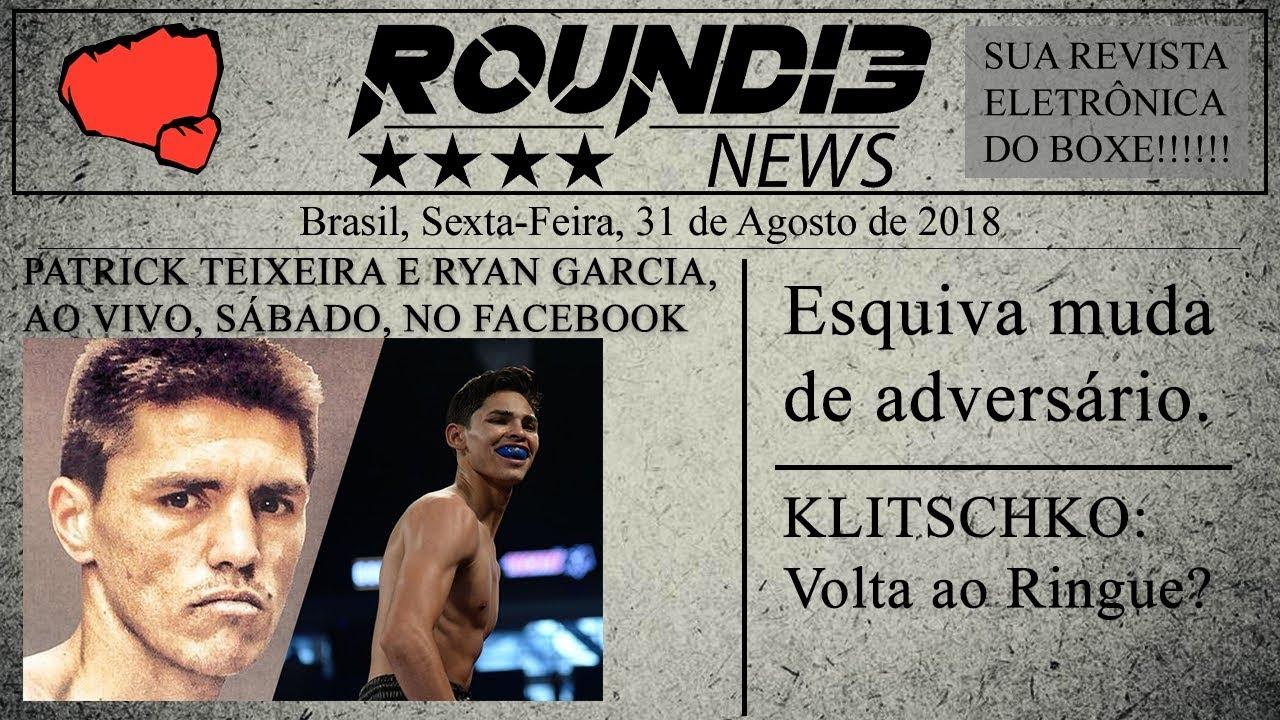 R13 NEWS: As Notícias do Boxe - 31/08/2018