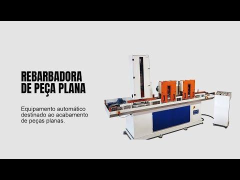 Rebarbadora Automática de peça Plana | Rebel