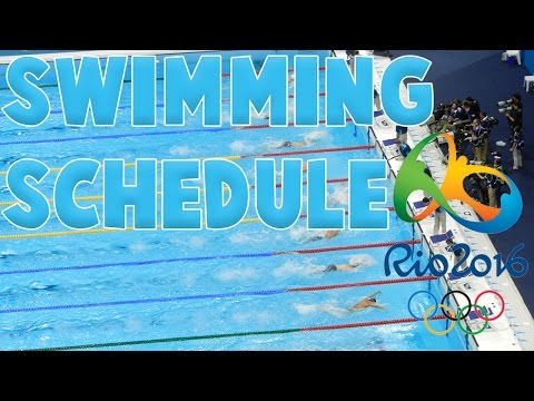 Olympic Games Rio 2016 Swimming Schedule