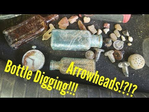 Bottle Digging, Creek Walking And Arrowhead Hunting.... The Ultimate Relic Hunt!!