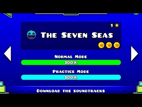 Geometry Dash Meltdown - The Seven Seas [100% Complete All Coins] - Bycraftxx
