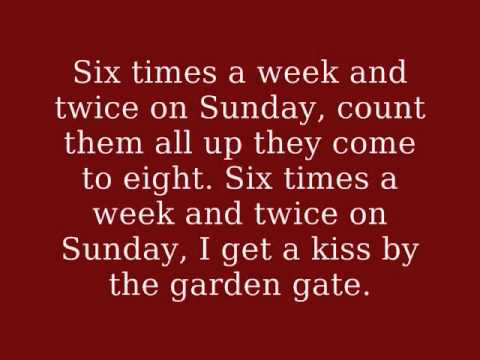 The Andrews Sisters - Six Times a Week and Twice on Sunday (With onscreen lyrics)