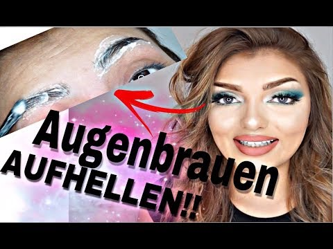 Augenbrauen HELLER färben !!! - TUTORIAL