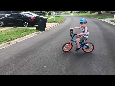 Camden learned to ride a bike during the COVID-19 pandemic