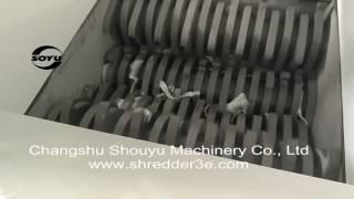 Четырехвальный шредер SOYU FS8080. Измельчение пластиковых канистр(, 2016-05-16T11:04:06.000Z)