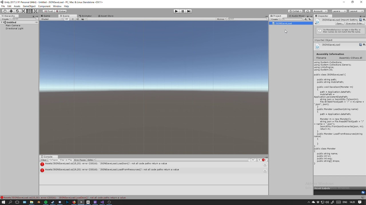 Unity Tutorial 1: JSON Save & Load (PC & Mobile)
