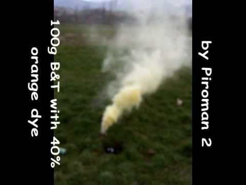 KNO3/Sucrose Smoke Bombs and Baking Soda - Pyrotechnics