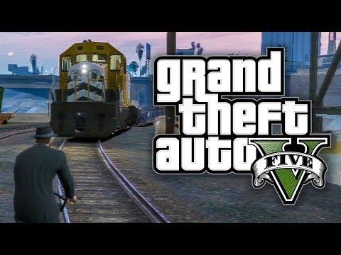 ★ GTA 5 - ONLINE FUNNY MOMENTS!! - MAN VS. TRAIN, PLANE SUICIDAL, TANK MASSACRE, & MORE!!
