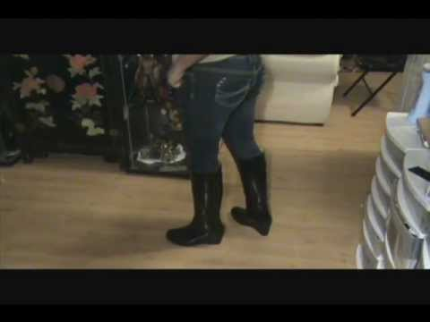 Hunter Rain Boots - Ladies Champery Black Rain Boots Review ...