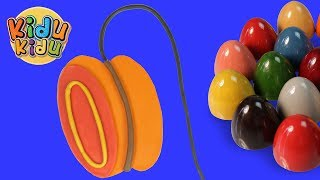 Surprise Eggs Learn Alphabets | Y for Yoyo  | Learn English Words for Children