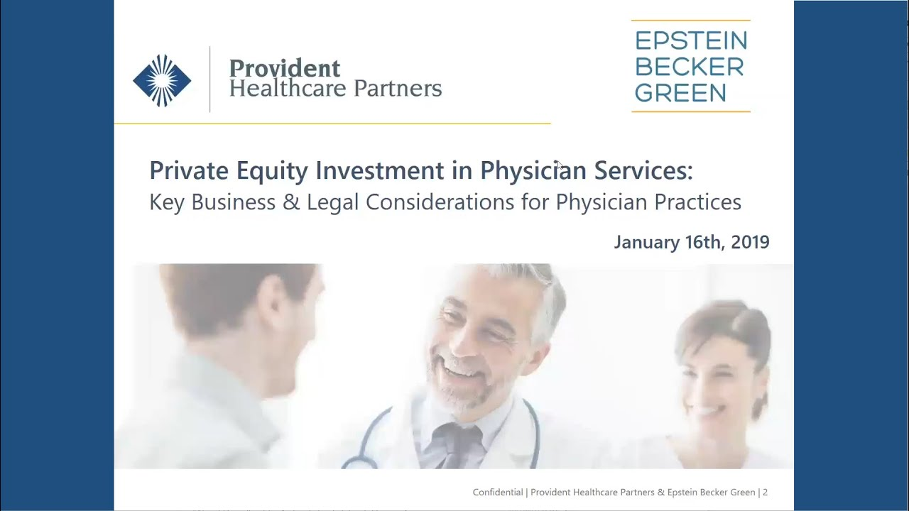 Private Equity Investment in Physician Services – Future of Health Care Conference Series #Gastroenterology
