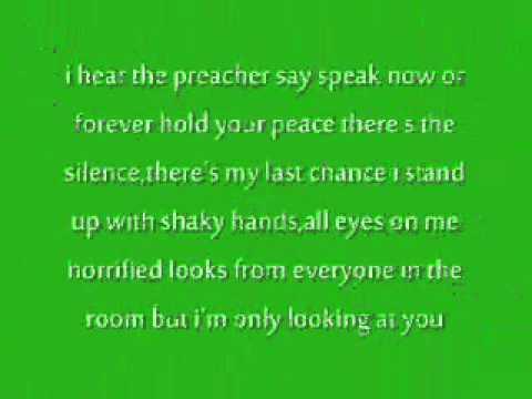 taylor swift - speak now lyrics