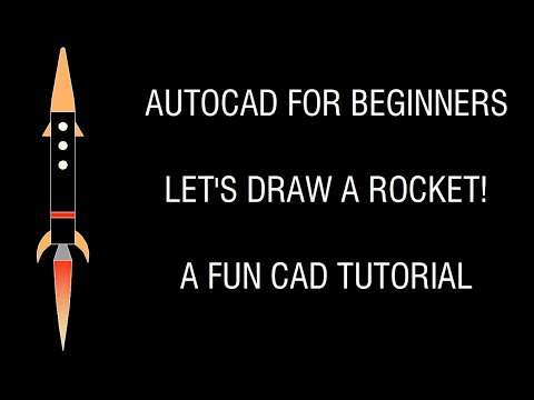 AutoCAD Tutorial for Beginners - Lets Draw a Rocket!