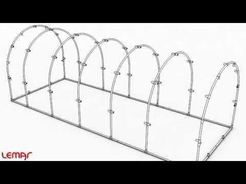 видео: Теплиця під плівку *А4* 4,8 х 3 х 1,9 м