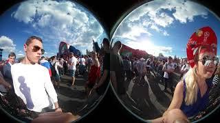 Фан-зона Москва. 360 VR. Матч Россия-Уругвай. Fan Zone Moscow. 360 VR. Russia v Uruguay match.