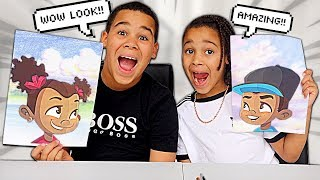 DRAW MY SIBLING CHALLENGE | FamousTubeKIDS