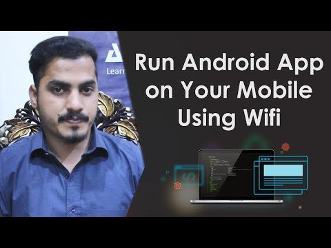 Android Studio Tutorial - How To Run Android App On Your Mobile Using Wifi