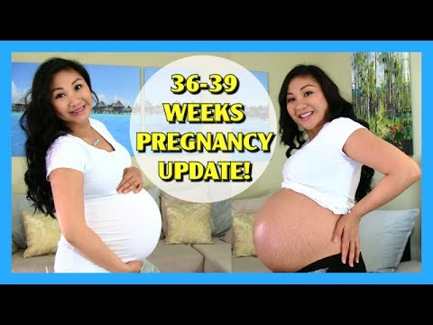 36-39 Weeks Pregnancy Vlog Update! Belly Shot + TMI!