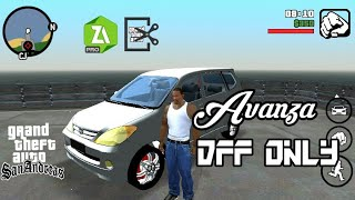 Mod Mobil Avanza Dff Only Gta Sa Android Youtube