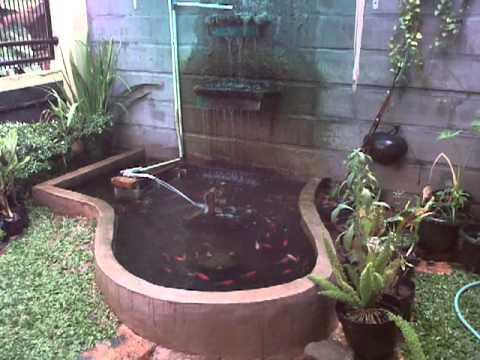 good pancuran air kolam ikan taman minimalis - taman minimalis
