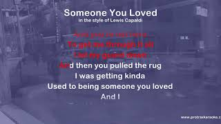 Someone you loved - ProTrax Karaoke Demo
