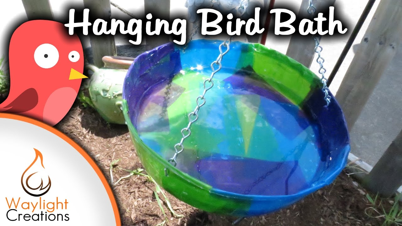 Make a DIY Bird Bath Using Tissue Paper and Resin - YouTube