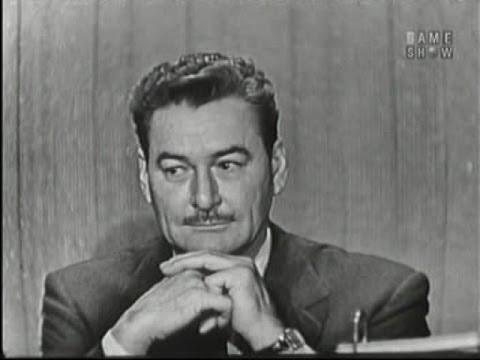 What's My Line?  Errol Flynn; Martin Gabel panel Dec 1, 1957