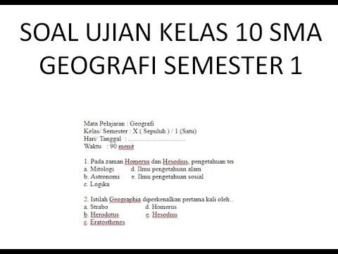 Soal Geografi Kelas Xii Semester 1 Dan Jawabannya Ilmusosial Id