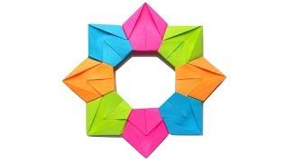 як зробити з паперу квітку семицветик