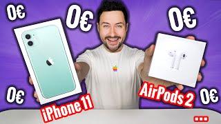 Je vends tout à 0€ ! (iPhone 11, AirPods 2...)