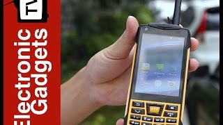 Rugged Android Smartphone, Waterproof IP68, NFC, Walkie-Talkie Feature, Google Play