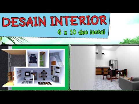 desain interior rumah minimalis 6x10 2 lantai - youtube