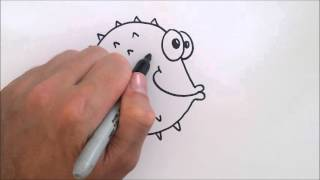 ZIPIT Drawing Easily – How to Draw a Blowfish